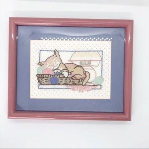 Other - 🐱Adorable framed textile art🐱